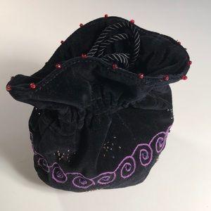 Velvet, beaded, embroidered Eliza Doolittle bag!